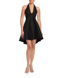 Halston Halter Fit And Flare Dress Black