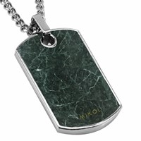 Mikol Real Marble Dog Tag Collectionemerald Green