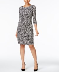 Ny Collection Printed Ruched Sheath Dress Night Speckle