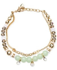 Lonna And Lilly Gold Tone Multi Bead Bracelet
