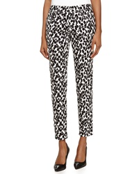 Missoni Animal Print Denim Skinny Jeans Black White