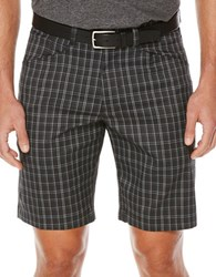 Callaway Big And Tall Micro Plaid Pattern Shorts Caviar
