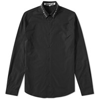 Mcq By Alexander Mcqueen Embroidered Collar Shirt Black