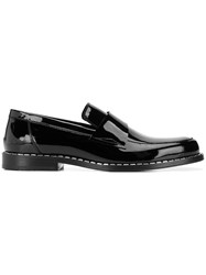 Jimmy Choo Bane Crystal Trim Loafers Black