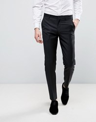 Asos Slim Tuxedo Suit Trousers In Black Black