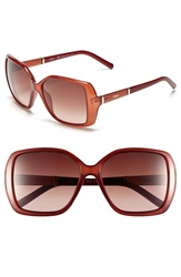 Chloe 'Daisy' 58Mm Rectangular Sunglasses Light Burnt