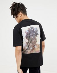 Systvm Halo Back Print T Shirt Black