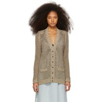 Marc Jacobs Gold Open Knit Cardigan