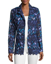 Berek Provence Floral Lace Jacket Plus Size Blue
