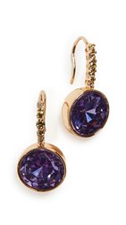 Kate Spade New York Pave Round Drop Earrings Lilac Multi