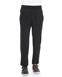 Neiman Marcus Cashmere Lounge Pants Charcoal Grey