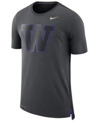 Nike Men's Washington Huskies Meshback Travel T Shirt Anthracite