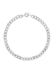 Cz By Kenneth Jay Lane Cubic Zirconia Pave Curb Chain Necklace Metallic