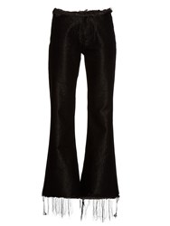 Marques Almeida Frayed Edge Flared Jeans