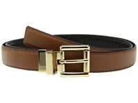Michael Michael Kors 25Mm Feather Edge Reversible Smooth To Croco Belt Luggage Cherry Women's Belts Brown