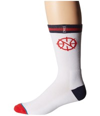 Stance Pelicans Arena Logo White Crew Cut Socks Shoes