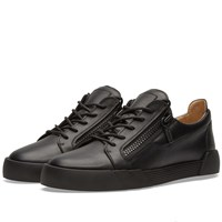 Giuseppe Zanotti Double Zip Basket Cut Low Sneaker Black