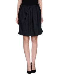 Monocrom Knee Length Skirts Lead