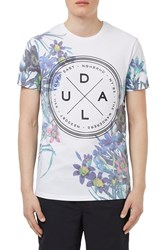 Men's Topman Slim Fit Floral Print Graphic Crewneck T Shirt