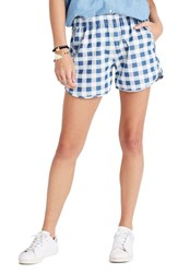 Madewell Women's Gingham Check Pull On Shorts
