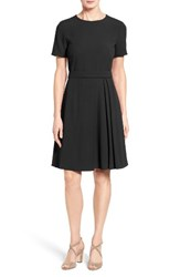 Boss Women's Dalinkana Belted Pleated Fit And Flare Dress