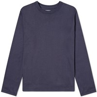 Nanamica Long Sleeve Loopwheel Coolmax Tee Blue