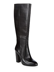 Saks Fifth Avenue Hallie Leather Knee High Boots Mulberry