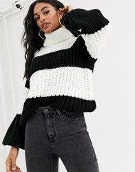 Ivyrevel Oversized Knitted Jumper In Black And White Multi