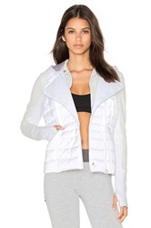 Blanc Noir 3 In 1 Packable Satin Jacket White