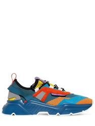 Dolce And Gabbana Day Master Mesh Leather Sneakers Multicolor