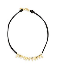 Mhart 18K Gold And Sterling Silver Choker Necklace Black