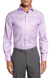 Lorenzo Uomo 'S Big And Tall Trim Fit Houndstooth Dress Shirt Lavender