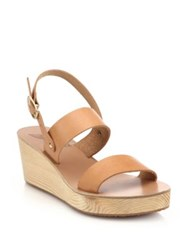Ancient Greek Sandals Clio Leather Wedge Sandals Natural