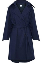 Iris And Ink Morgan Cotton Canvas Trench Coat Navy