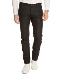 G Star Arc Zip 3D Black Waxed Slim Fit Jeans