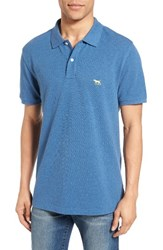 Rodd And Gunn Men's 'The Gunn' Pique Sports Fit Cotton Polo Bluesteel