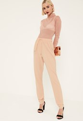 Missguided Tall Nude Crepe Joggers
