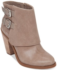 Jessica Simpson Cainn Foldover Booties Women's Shoes Slater Taupe