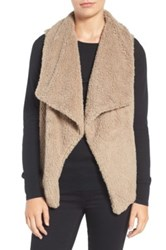 Bb Dakota Faux Fur Vest Brown