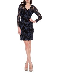 Decode 1.8 Floral Lace Bodycon Dress Navy Black