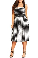 City Chic Plus Size Women's So Fab Stripe Sundress