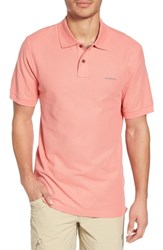 Patagonia Belwe Relaxed Fit Pique Polo Peak Pink