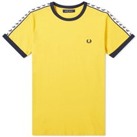 Fred Perry Authentic Taped Ringer Tee Yellow