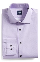 John W. Nordstrom Trim Fit Geometric Dress Shirt Purple Regal