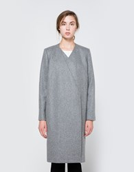 Just Female Eva Coat In Grey Melange