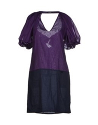 Max And Co. Short Dresses Purple