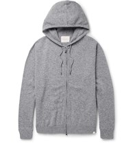 Derek Rose Finley Cashmere Zip Up Hoodie Gray