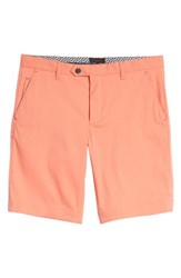 Ted Baker London Twopar Flat Front Shorts Coral