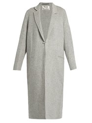 Acne Studios Foin Double Wool And Cashmere Blend Coat Grey