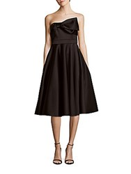 Cynthia Rowley Bonded Satin A Line Dress Black